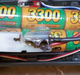 Tamiya Battery Connector melted